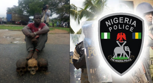 Police Arrest Man With 3 Human Skulls For Money Ritual