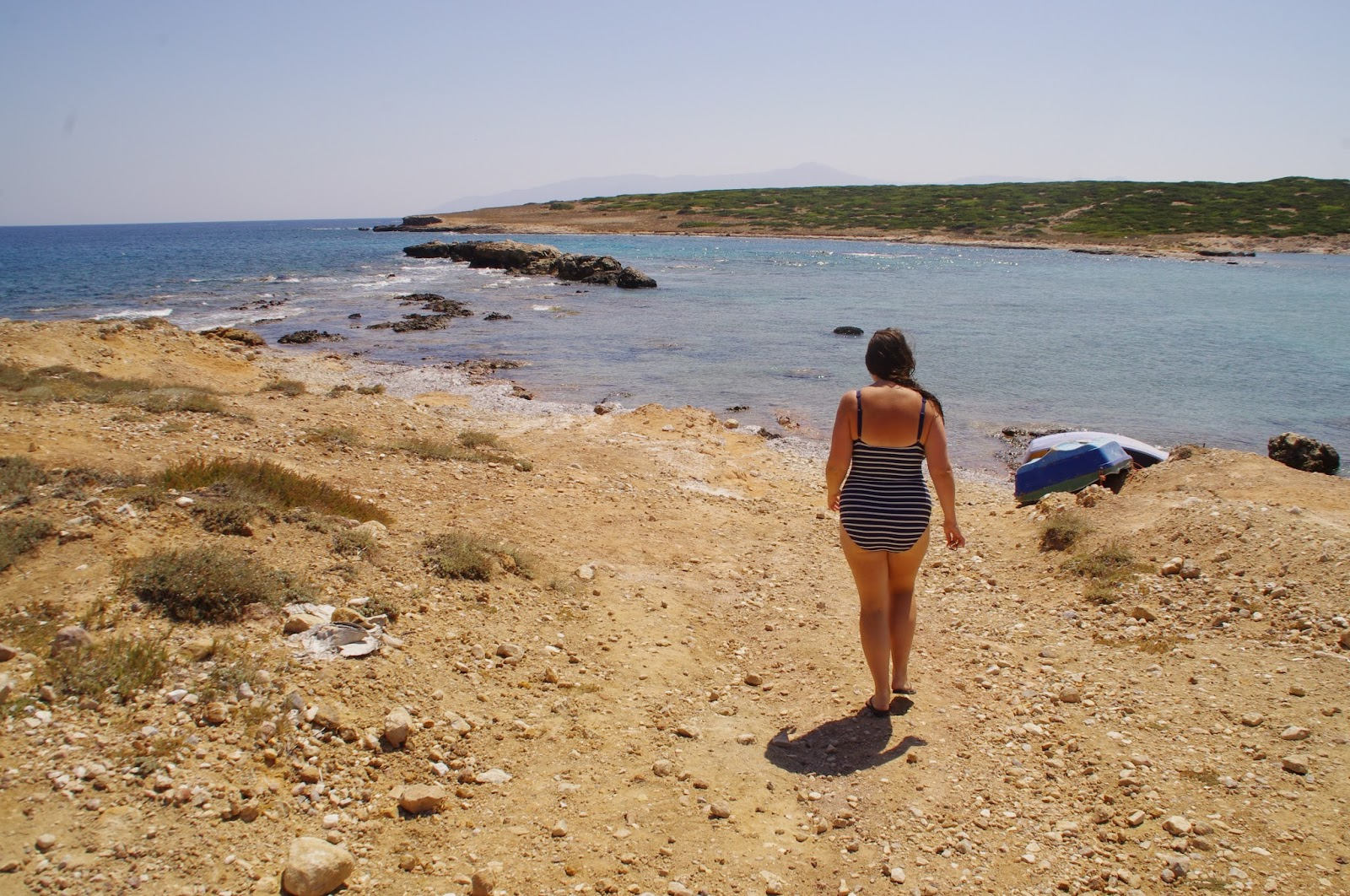 Girl exploring Paros Island