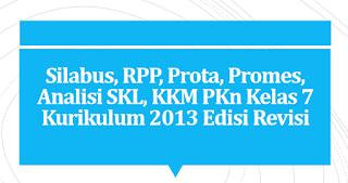 Perangkat Pembelajaran PKn Kelas 7 Kurikulum 2013 (Revisi Terbaru)