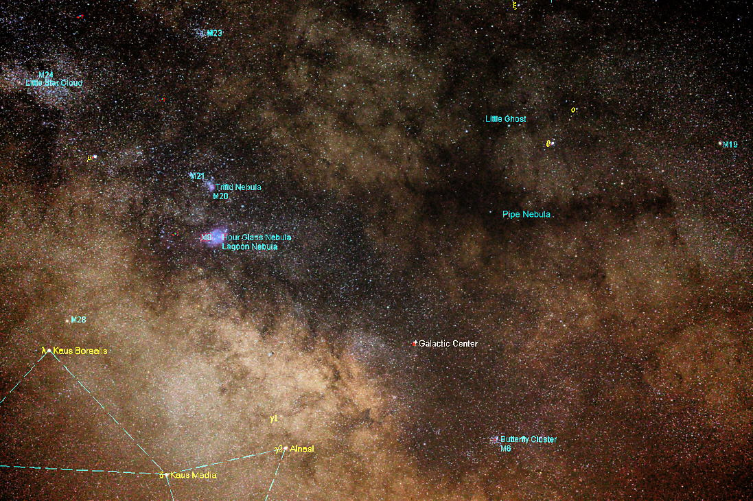 Astrology startalk from tim rubald in this photo probably composit since it is such a huge chunk of space we look toward the galactic center from earth its a rather unpreposing part of geenschuldenfo Images
