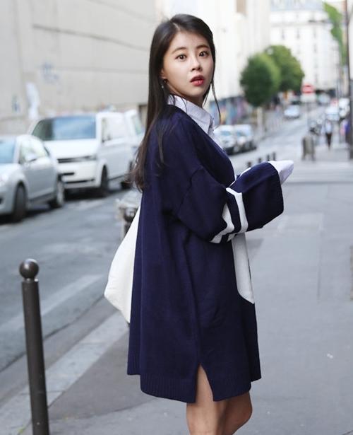 Oversized 6 Pattern Sweater Dress