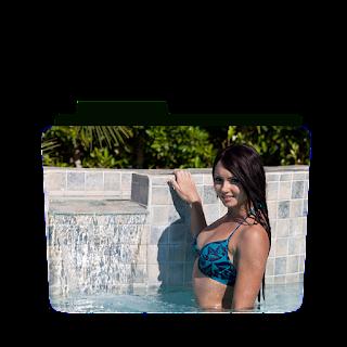 Preview of Natasha belle, blue swimsuit, pool, pose, folder icon