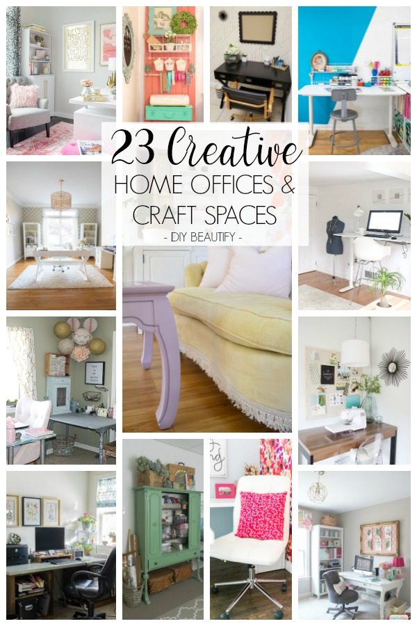Inspiring Home Office And Craft Rooms Decorated On A Budget