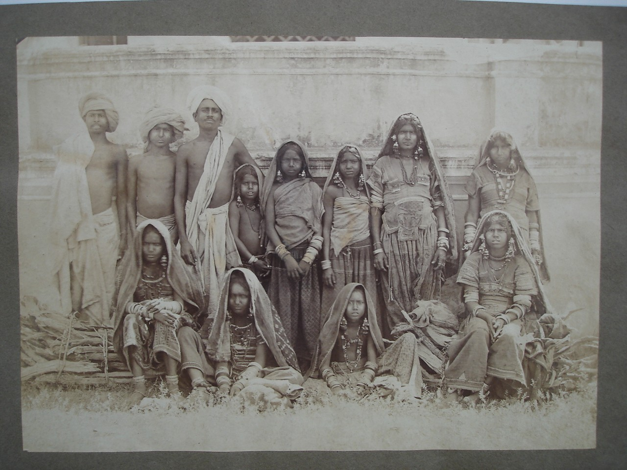 Group Photo of India Men, Women and Children - 1860-70's - Old ...