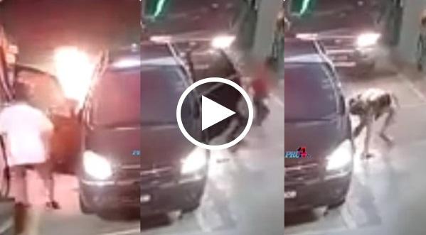 Video Kereta Terbakar, Matikan Enjin Sebelum Isi Minyak