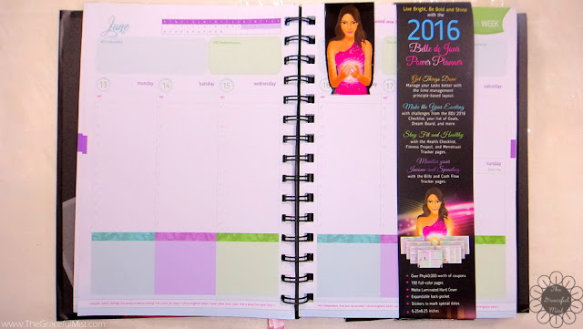 2016 Belle De Jour Power Planner Picture (Review at http://www.TheGracefulMist.com/)