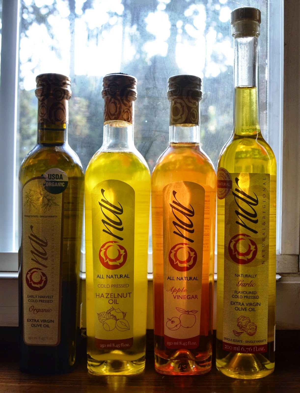 NAR Gourmet vinegar and oils