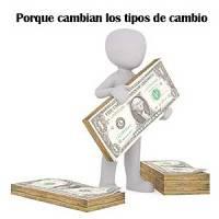 Los tipos de cambio cambian constantemente