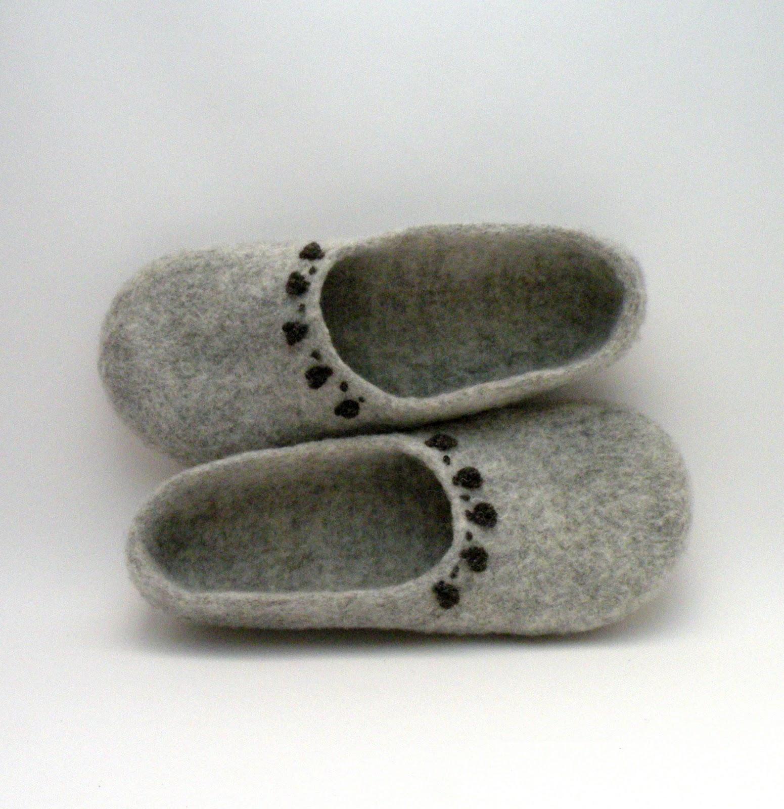 Agnužės Veltinis Veltos Lepetės Felted Wool Slippers