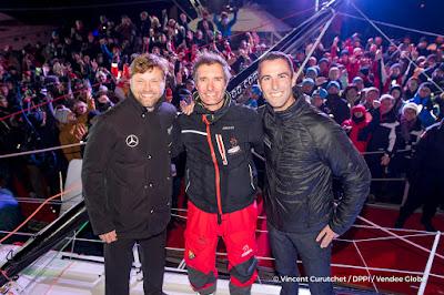 Le Cléac'h, Thomson, Beyou, le podium du Vendée Globe 2016
