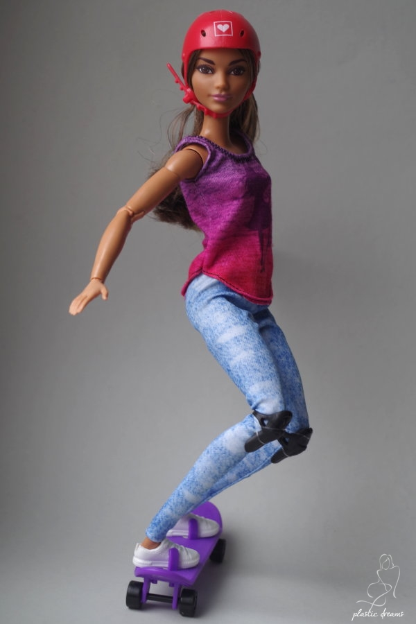 made to move skateboarder barbie doll