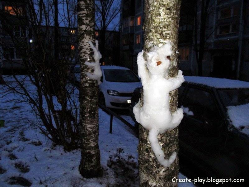 лепим из снега
