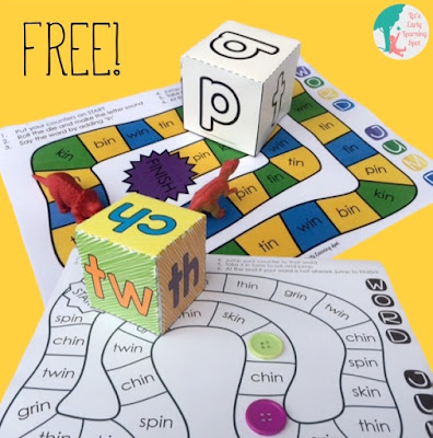 Grab these free CVC and CCVC board games!