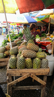 pineapples in bankerohan market davao city