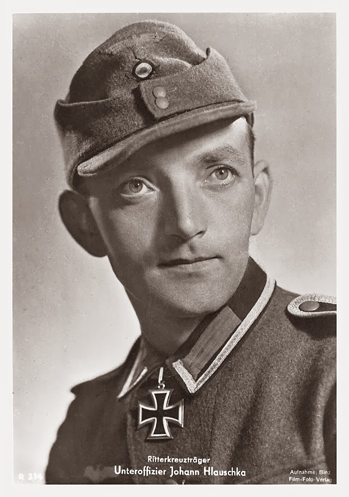 Johann Hlauska Ritterkreuzträger Knight Cross Holder Postcard
