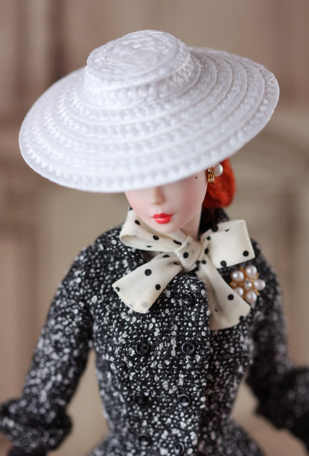 To Dolldom Black And White Tweed Barbie Is A Total Look Doll Not Unlike Its Predecessor Walking Suit But Undoubtedly Dollectors Will Redress
