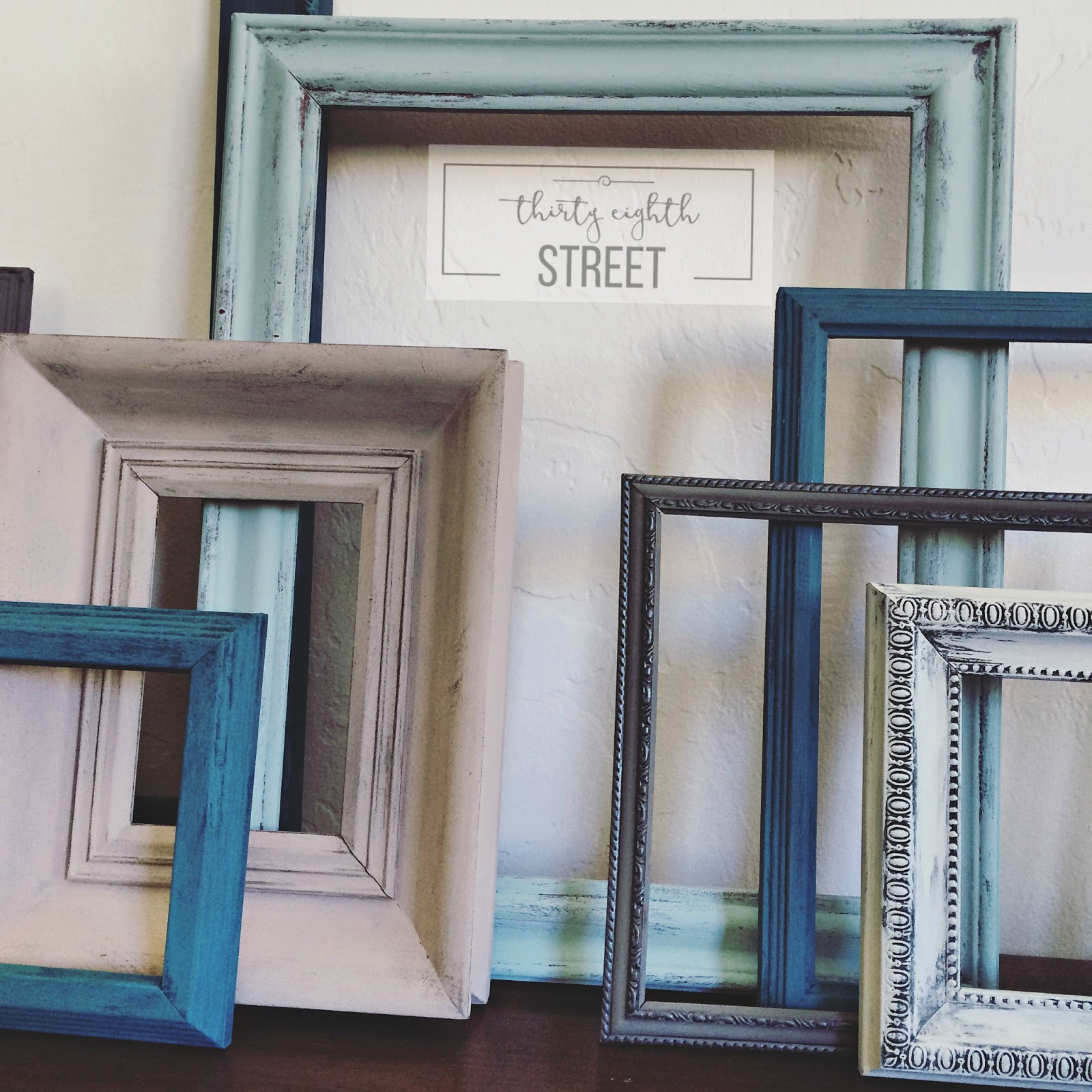 diy painted thrift store picture frames thirty eighth street