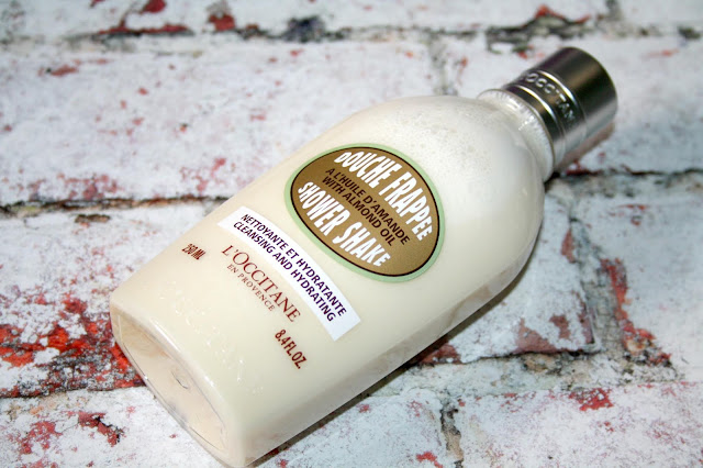 L'Occitane Almond Oil Shower Shake - shaken