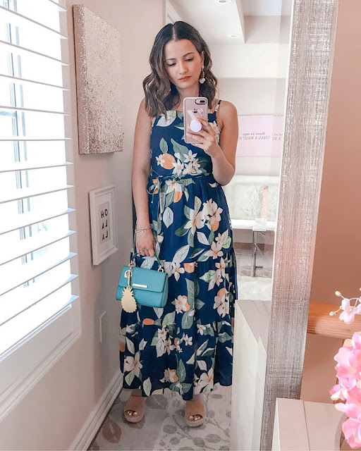 Summer 2018 Cute Summer Dress Blogger Outfit Old Navy Ruffle Maxi Dress