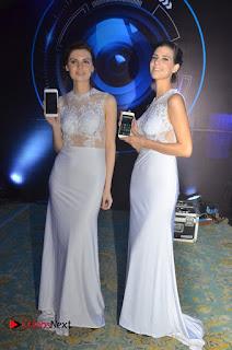 Actress Dhansika Stills in Golden Long Dress at Vivo V5 Mobile Launch  0012
