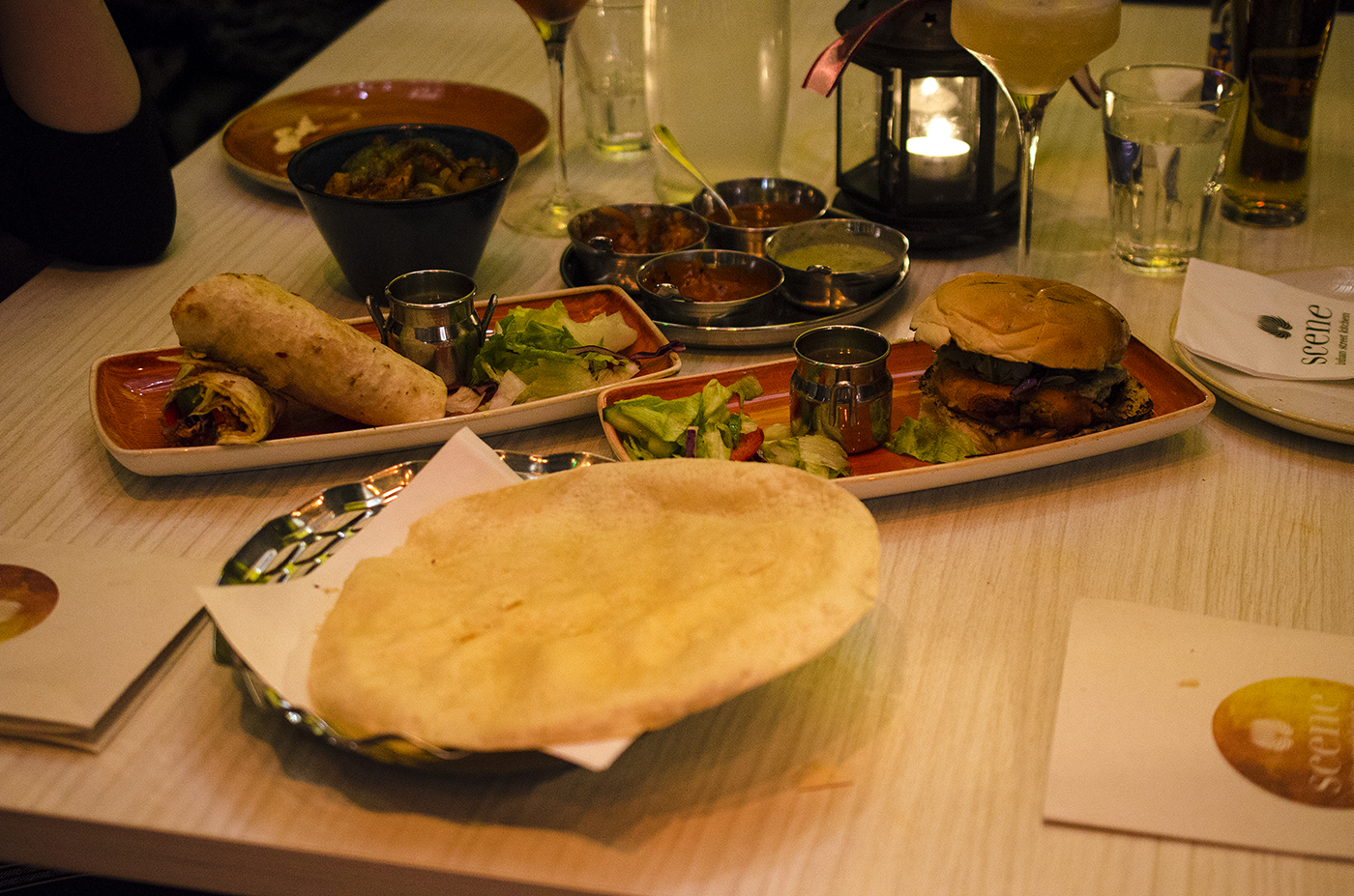 Indian Street Food At Scene Dining