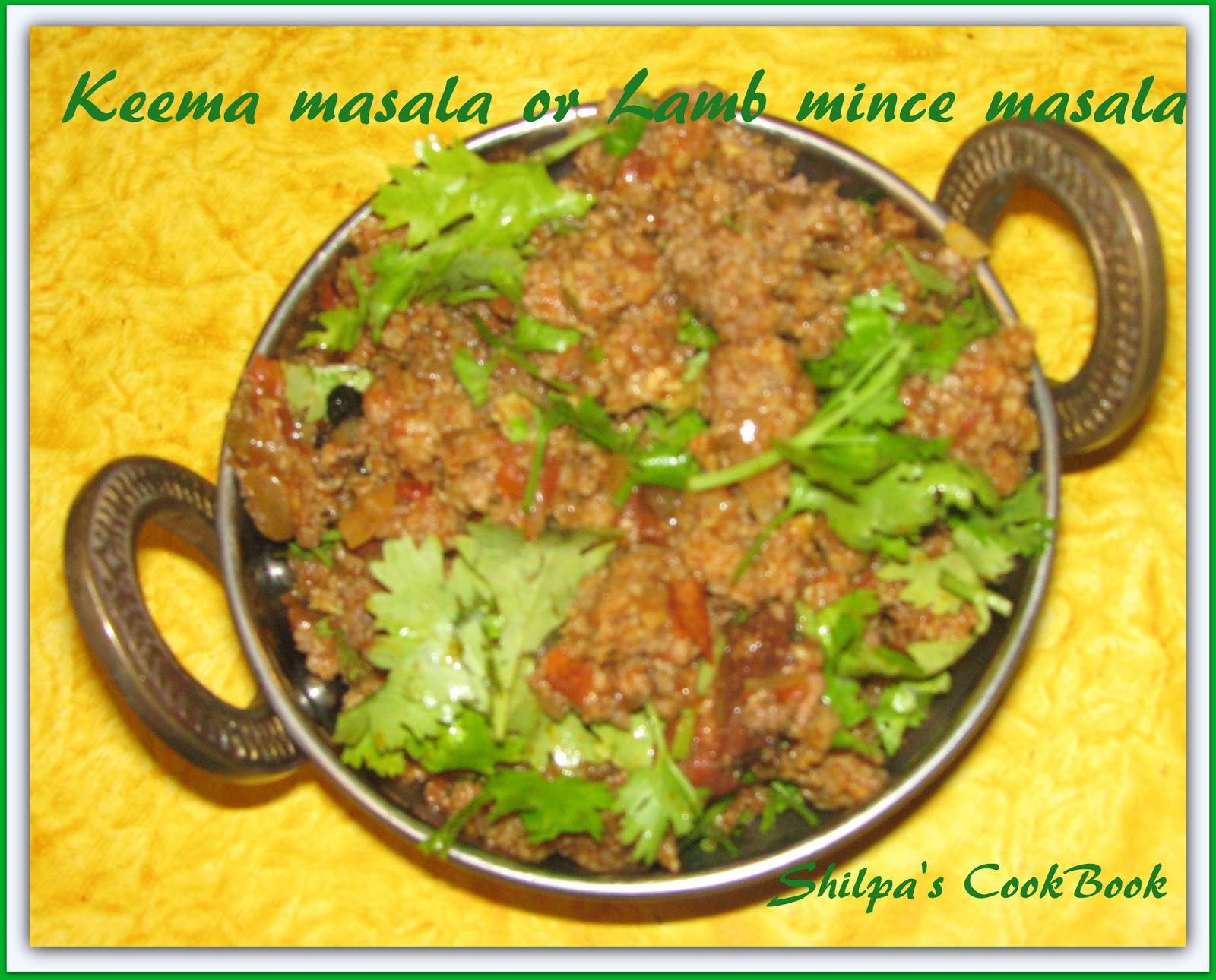 Cook Book: Keema Masala or Lamb mince masala