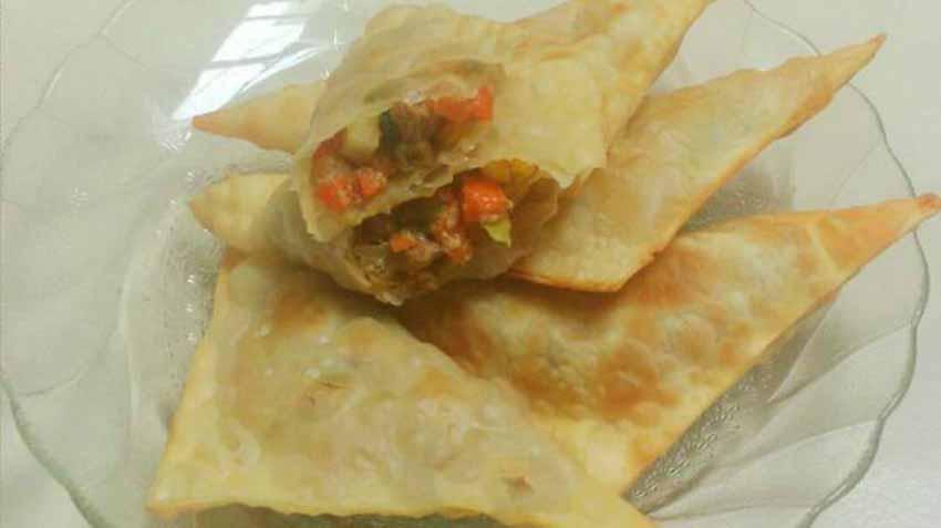 Resep Membuat Samosa Isi Sayur Plus Sosis Sapi (Kulit Pangsit) by Teti Cahyawati