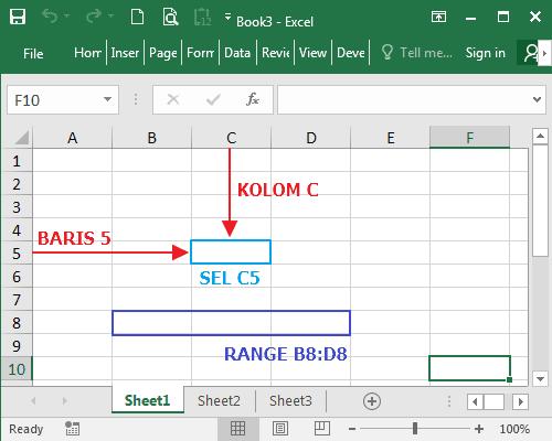 Sel dan Range Pada Microsoft Excel