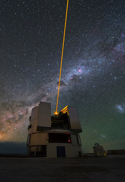 Laser Guide Star & VLT Telescopes
