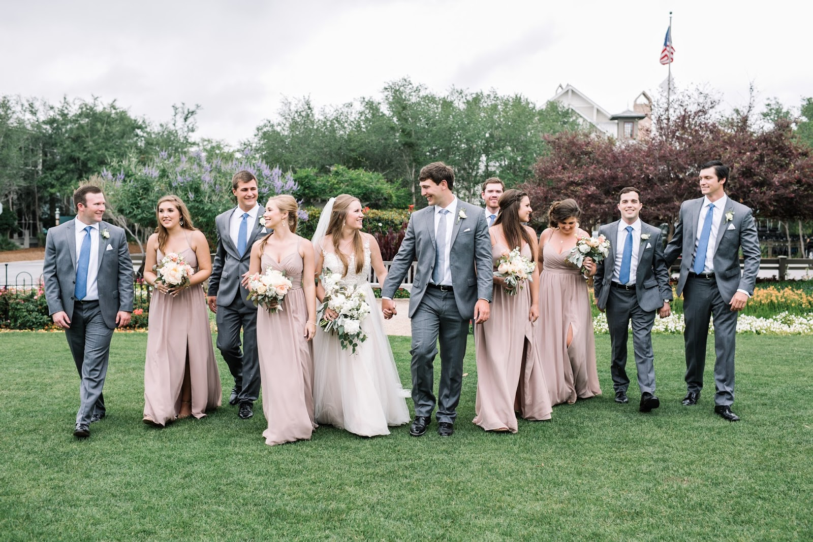 Our wedding bridal party i had initially planned on each bridesmaid having the same color but different style dress but i ended up preferring everyone in the same dress instead ombrellifo Images