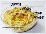 Thinai \ FoxtailJaggery Pongal