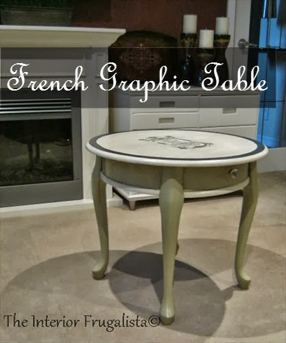 Round French Graphic Table