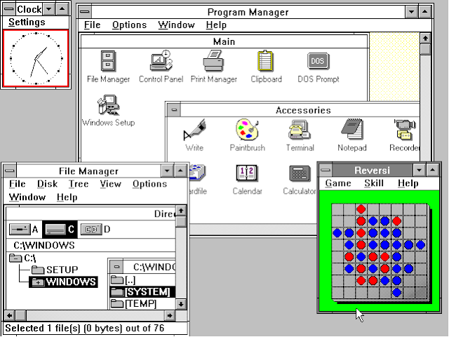 Windows NT – Kebawah (Windows Beta, 1.0, 3.0, dst)
