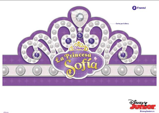 Libro de actividades de Princesa Sofía para imprimir gratis.