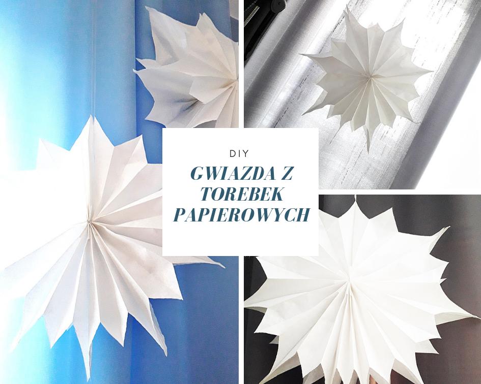 DIY piekna i prosta gwiazda 3d z torebek papierowych super pomysl na dekoracje swiateczna