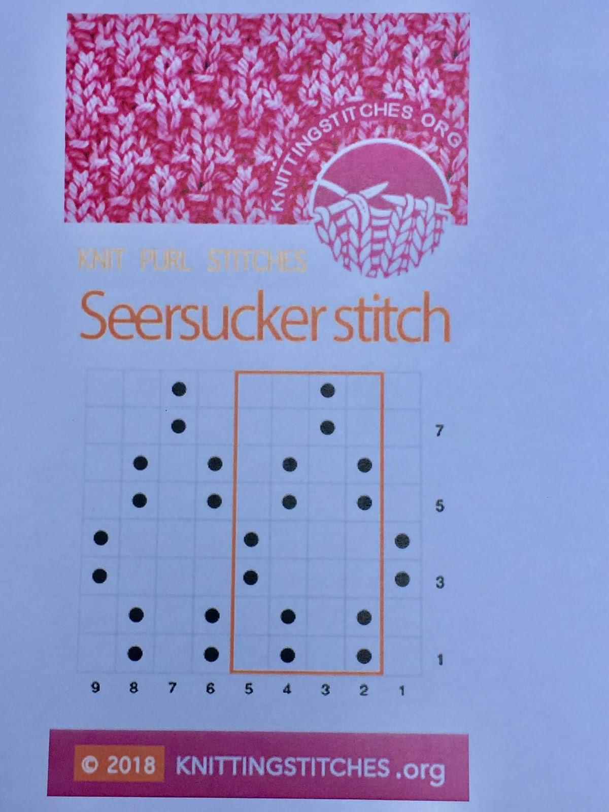 Knitting Stitches 2018 - Seersucker Knit Purl