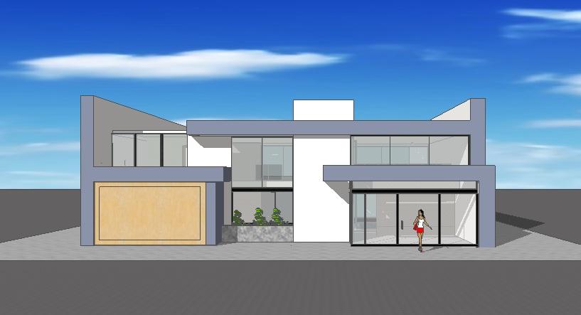 Imagenes de estilos de fachadas de casas de una planta - Dibujos de casas modernas ...