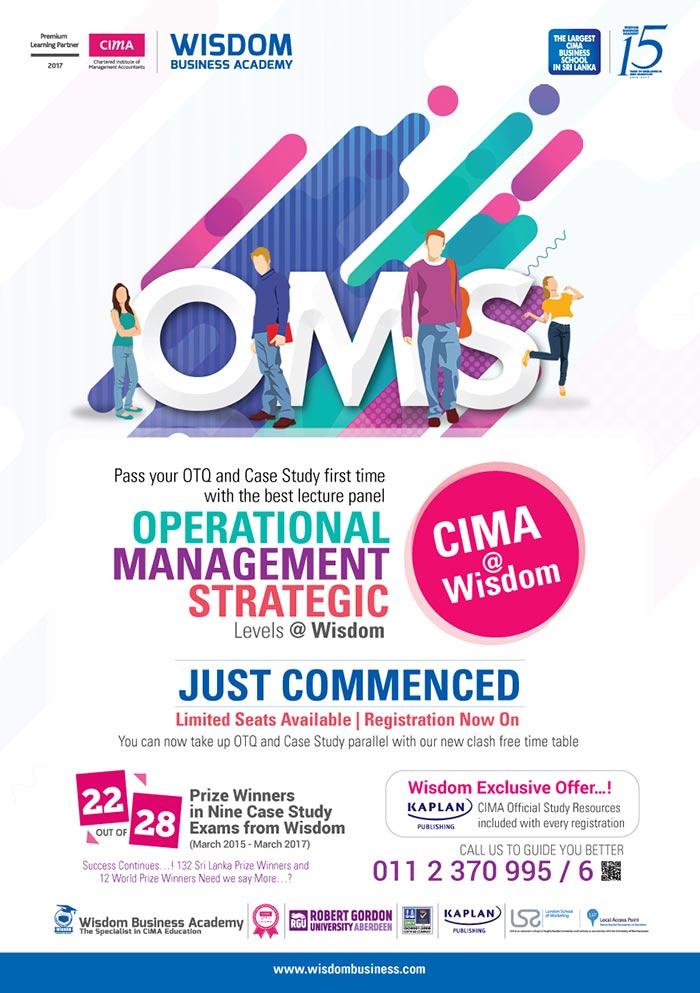 "Wisdom Business Academy   CIMA OTQ classes at WISDOM "" June Batch Just Commenced"