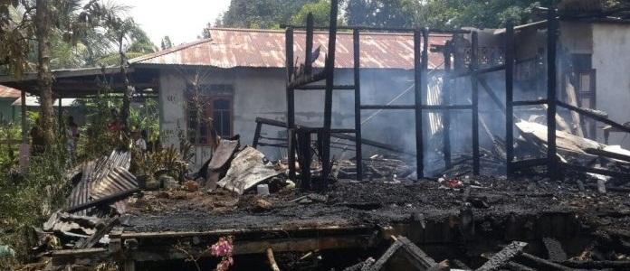 Diduga Cucu Lupa Mematikan Kompor, Rumah Kakeknya Habis Dilalap Si Jago Merah