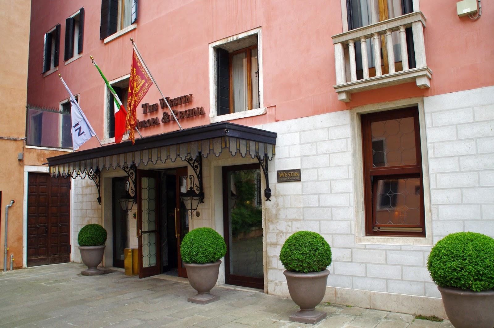 Entrance to Westin Europa & Regina Venice