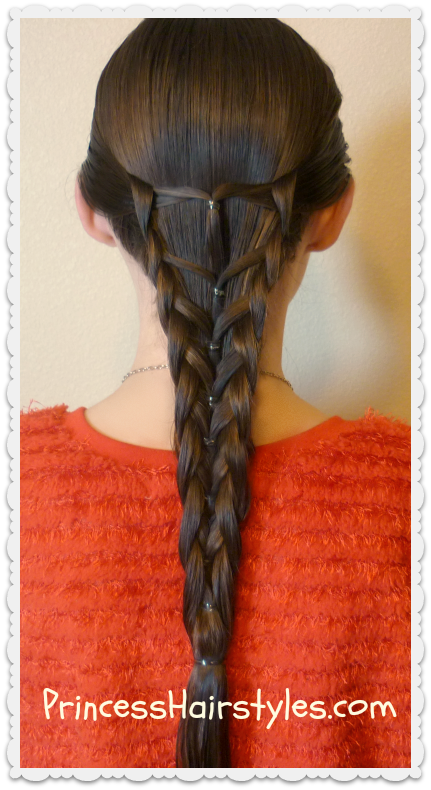 Elastic Mermaid Braid Hairstyle Hairstyles For Girls
