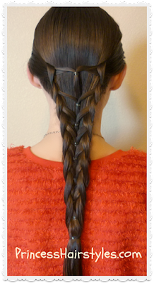 Elastic mermaid braid hair tutorial