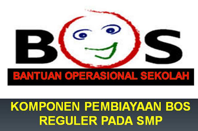 Komponen Pembiayaan Dari Dana BOS Reguler Tahun 2019 SMP