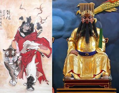 Lukisan dan Patung Dewa Zhoung Kui yang Dipercaya Bisa Mengusir Setan Jahat dan Penolak Bala