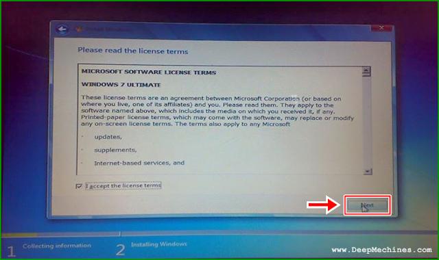 Proses Memilih Versi dan Meneruskan Instalasi Windows 7