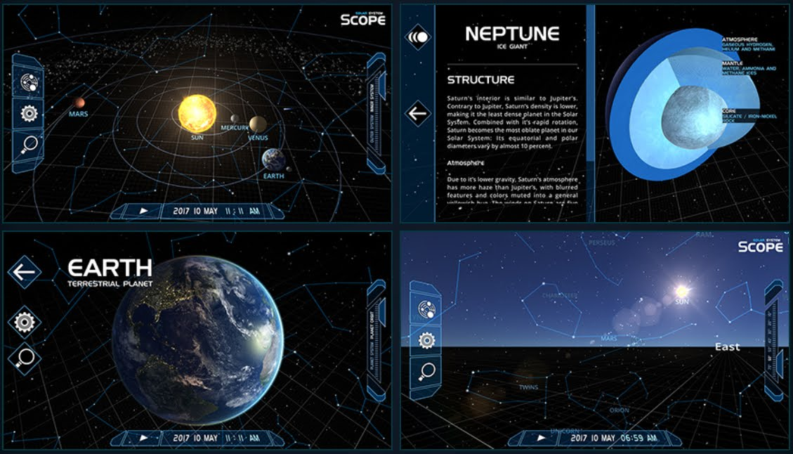 Solar System Scope: online Spacepedia e aggiornamenti App | Spazio News