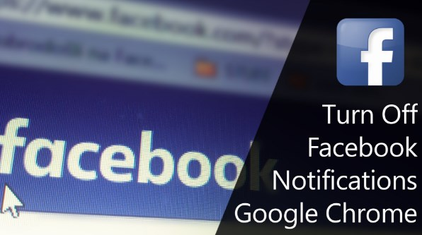 how to turn off facebook notifications on chrome