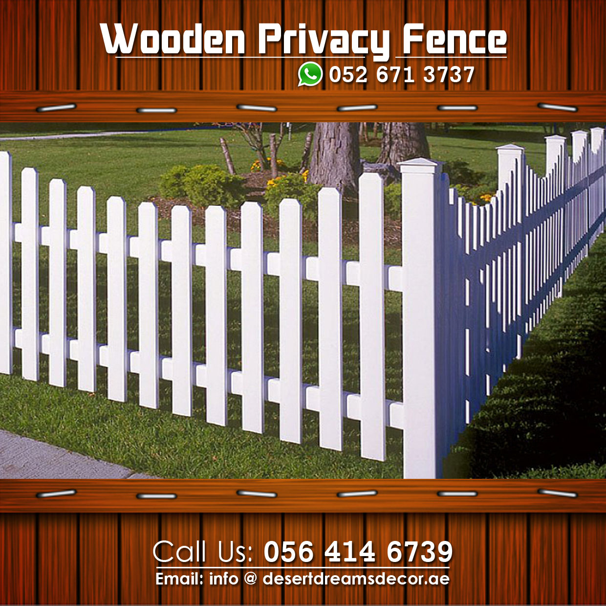 Wooden Fence In Uae Most Affordable Price