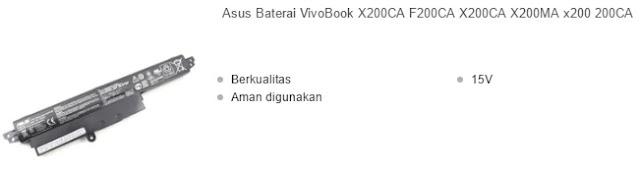 harga baterai laptop asus vivobook