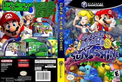 Jogo Super Mario Sunshine DVD Capa
